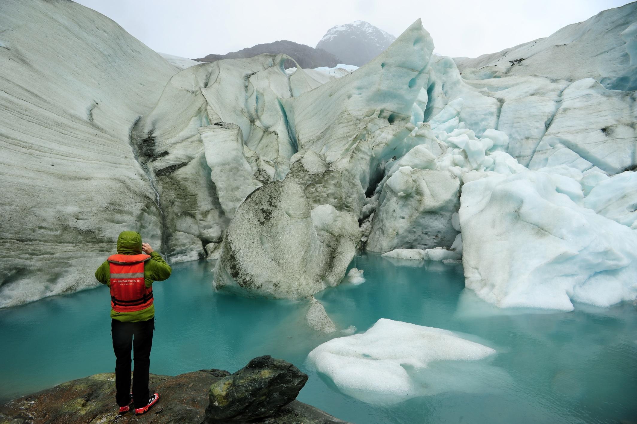 96_Glaciar Bernal en Fiordo de las Montañas - kopie